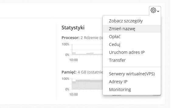 Monitoring pracy serwera