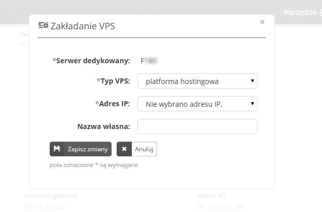 Zakładanie VPS
