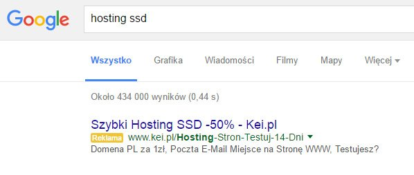 Adwords - reklama w sieci wyszukiwania