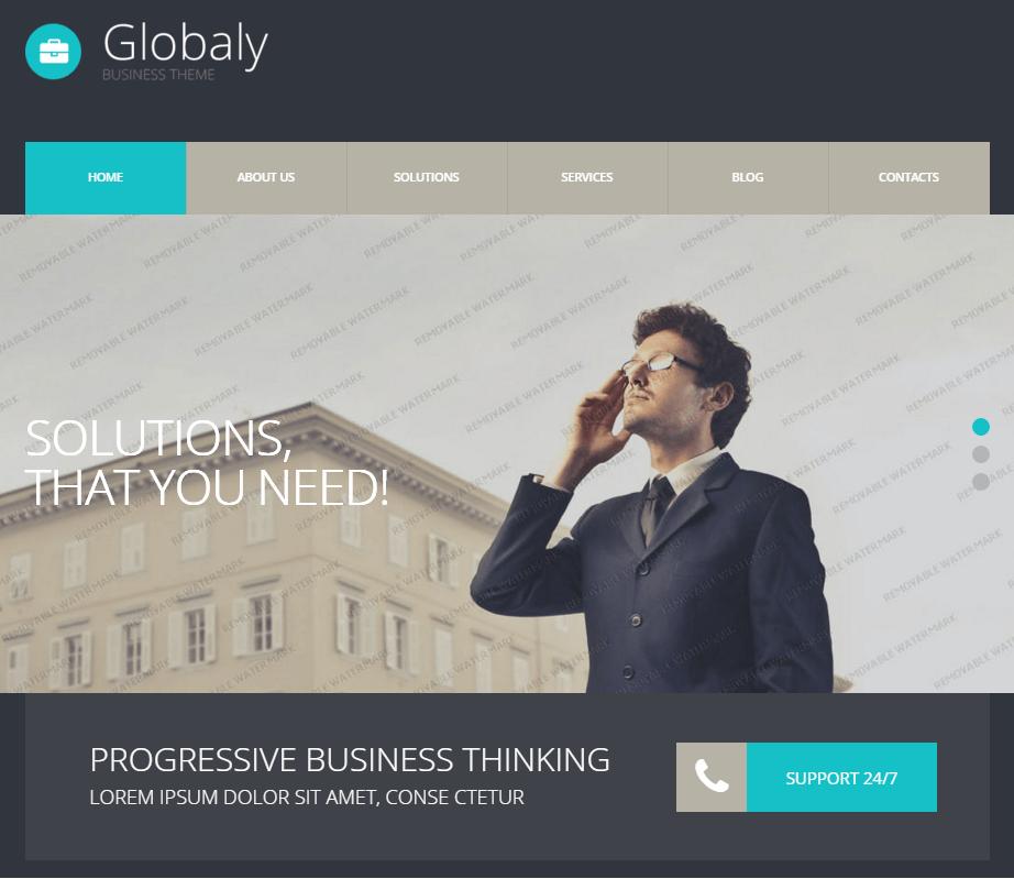 Globaly Business Theme 1 - Szablony WordPress