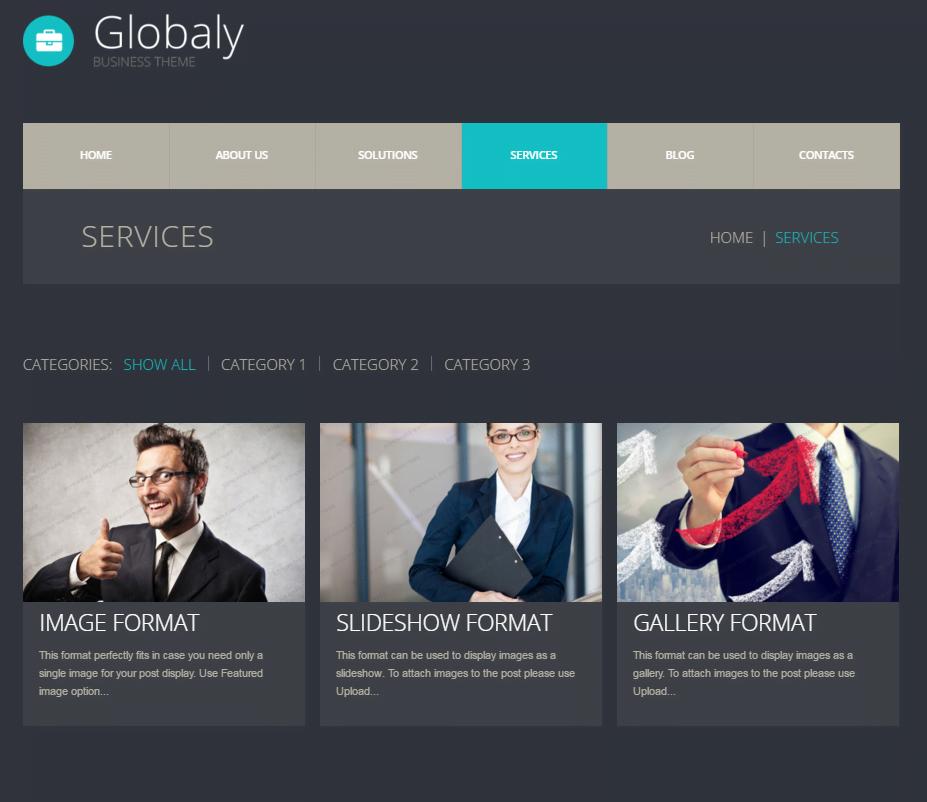 Szablony WordPress - Globaly Business Theme 2