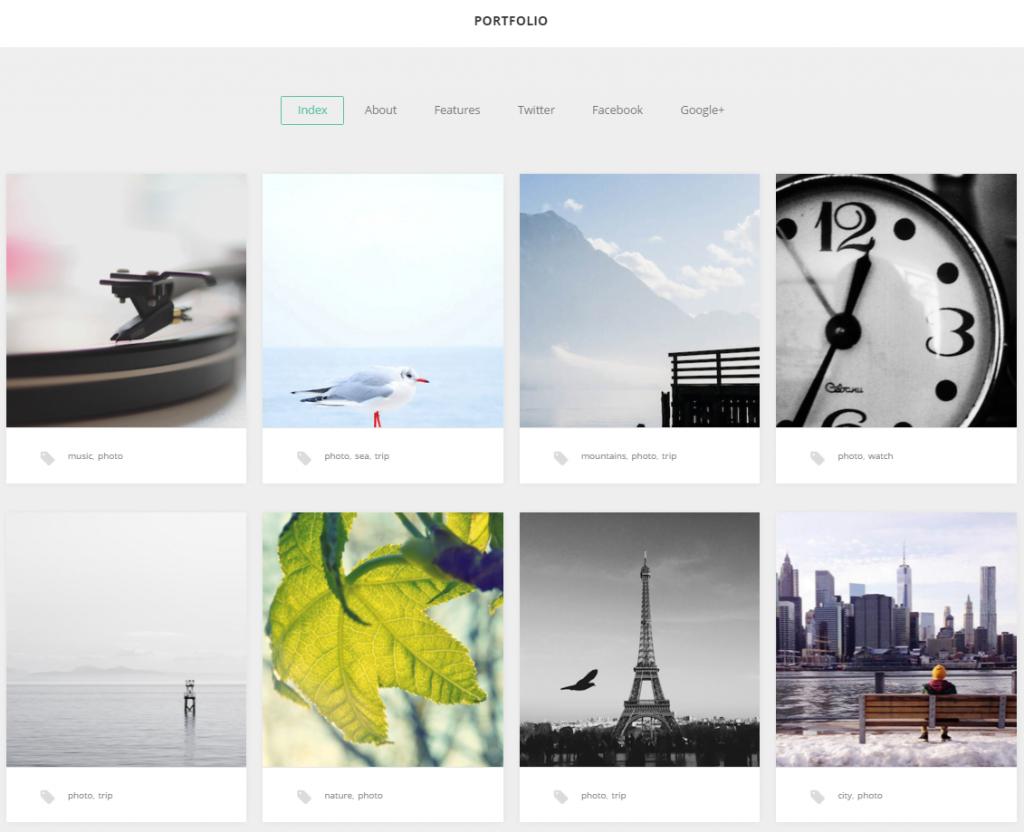 Widok ekranu - GK Portfolio Theme - Szablony WordPress