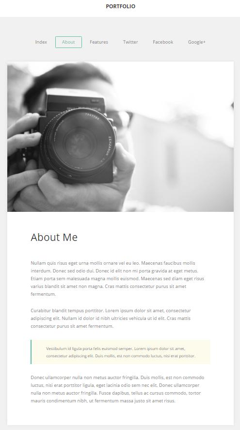 Widok ekranu - GK Portfolio Theme o mnie - Szablony WordPress