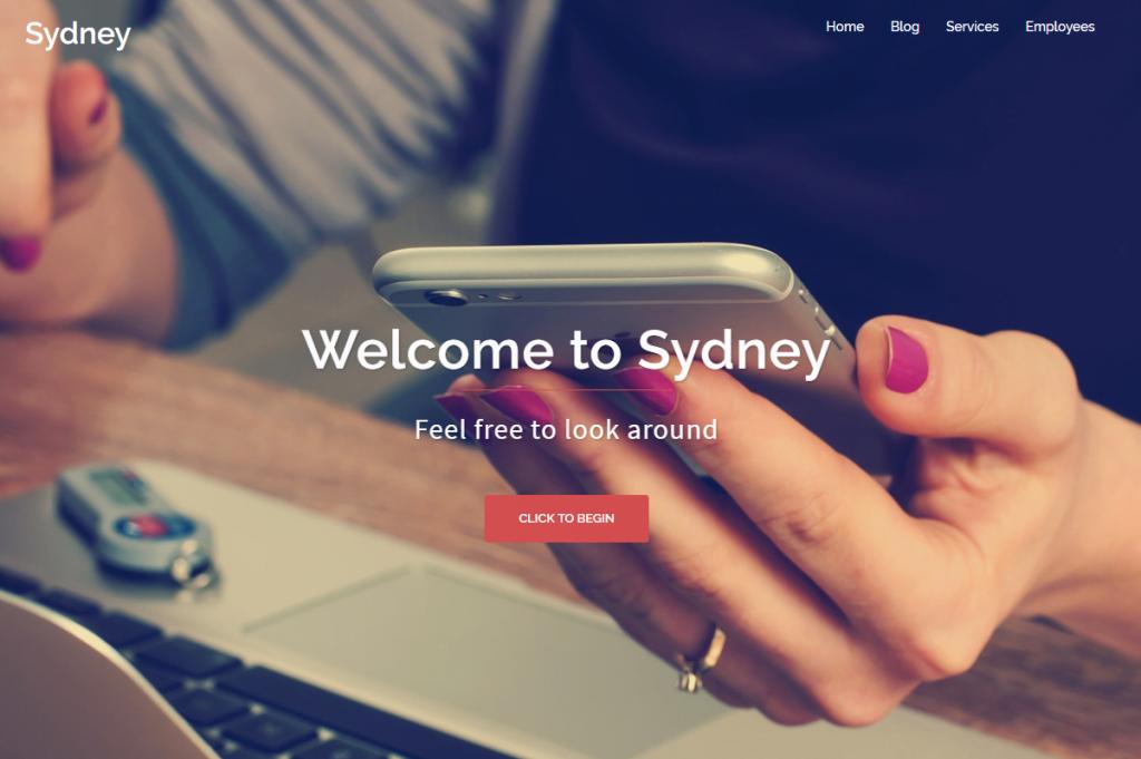 Widok ekranu - Szablony WordPress - Sydney Theme