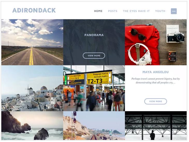Widok ekranu - Szablony WordPress - Adirondack Theme