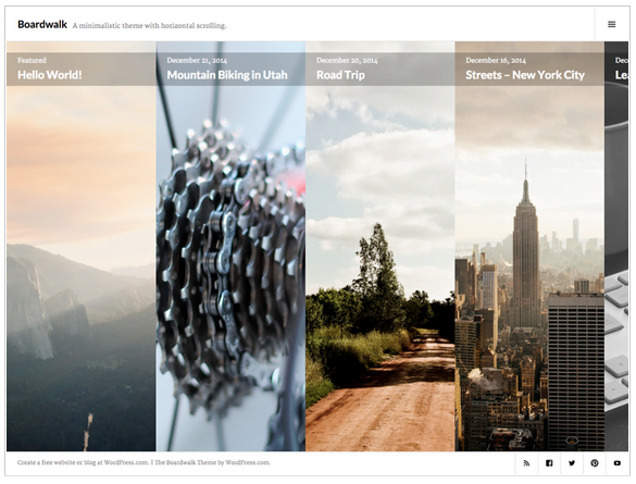 Szablony WordPress - Widok ekranu - Boardwalk Theme