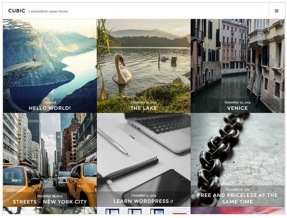 Widok ekranu - Cubic theme - Szablony WordPress