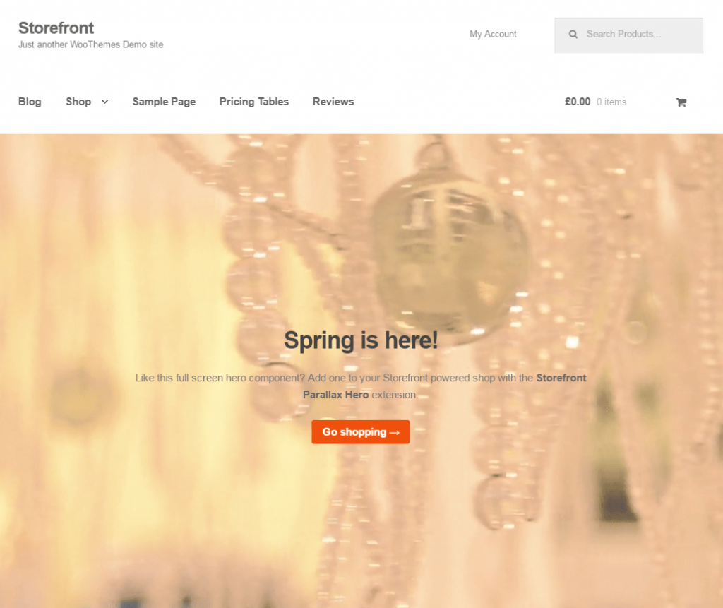 Szablony WordPress - Widok ekranu - StoreFront