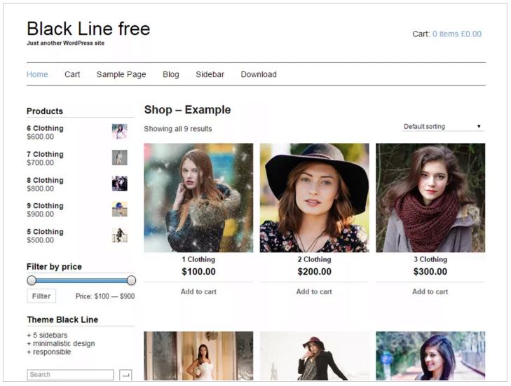 Widok ekranu - Szablony WordPress - Black Line Theme