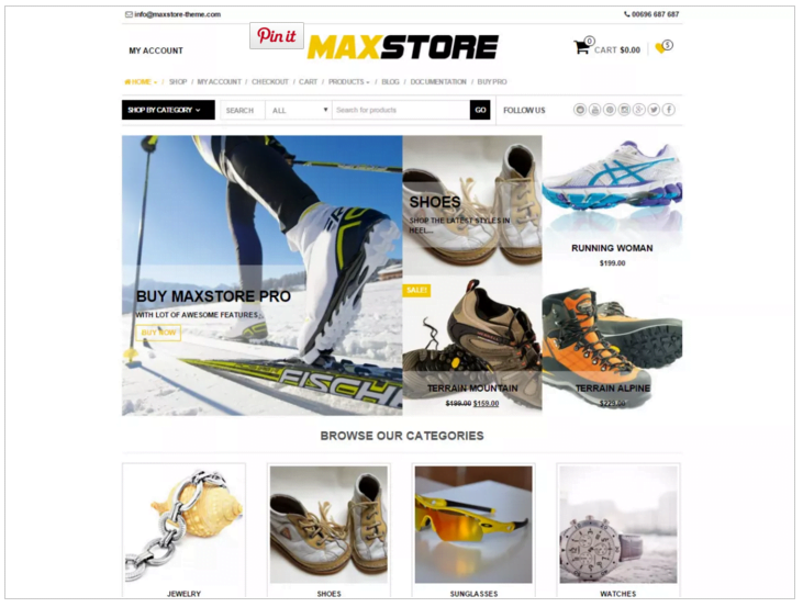 Widok ekranu - MaxStore - Szablony WordPress