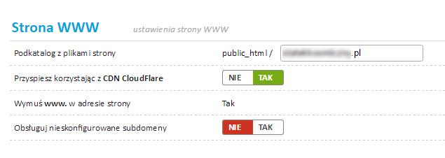 Hosting - cloudflare