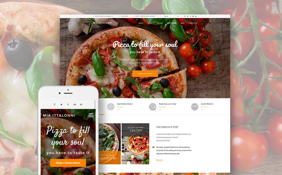 Szablon WordPress dla restauracji