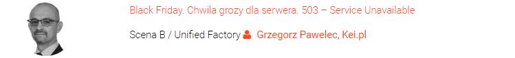 Wystąpienie Grzegorza Pawelca z kei.pl na targach ehandlu