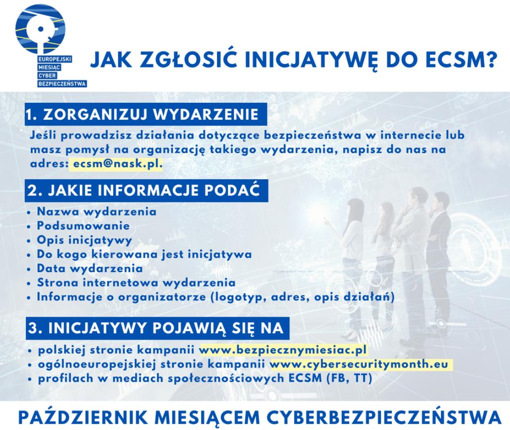 Europejski Miesiąc cyberbezpieczeństwa. Warunki zgłoszenia własnej inicjatywy