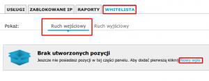 Zapora sieciowa. tworzenie whitelisty