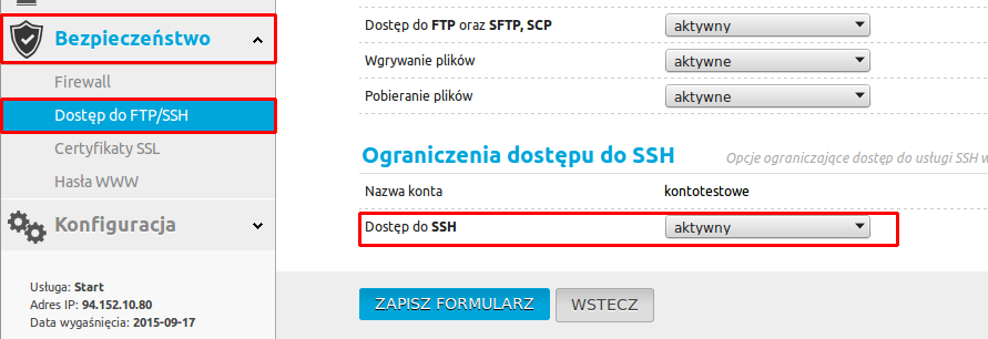 Aktywacja Git na usługach Kei.pl