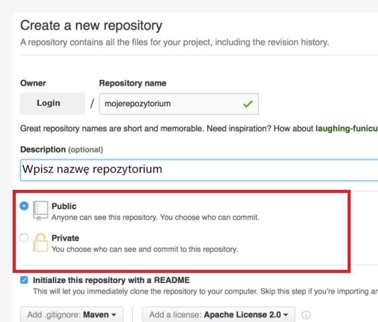 Tworzenie repozytorium na GitHub