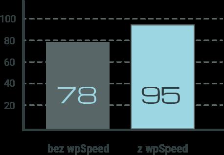 Wyniki testu VPS z wpSpeed i bez